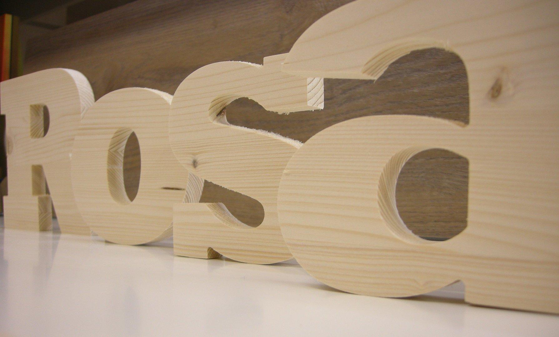 Letras madera maciza 40 cm gla de roure shop telf - Letras en madera ...