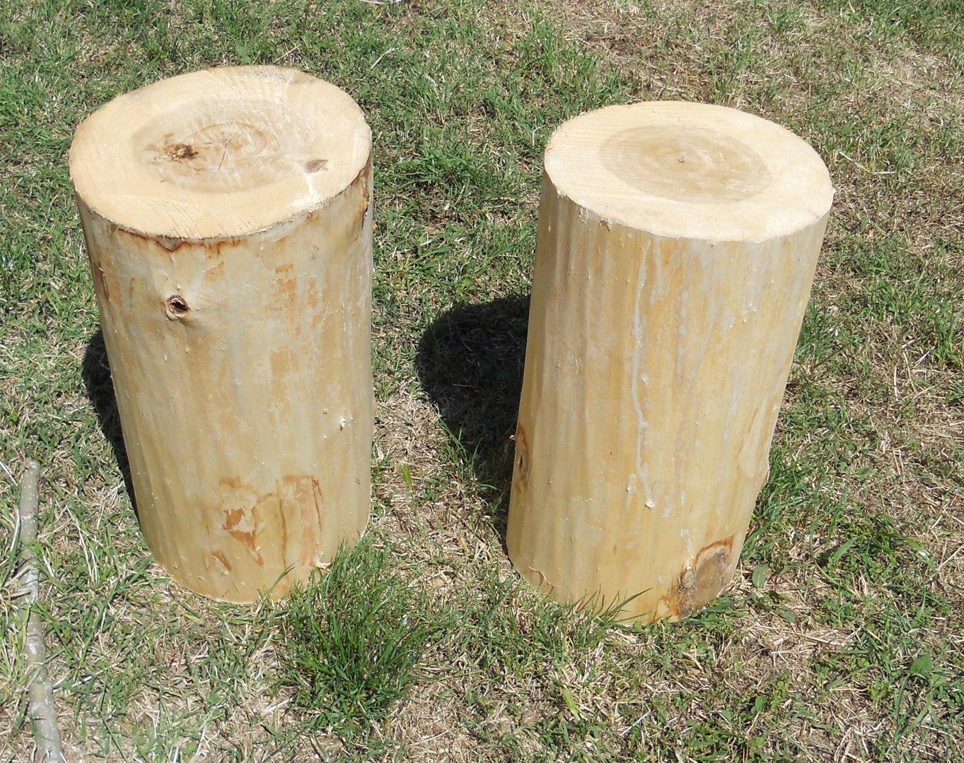 tronco de madera sin corteza x